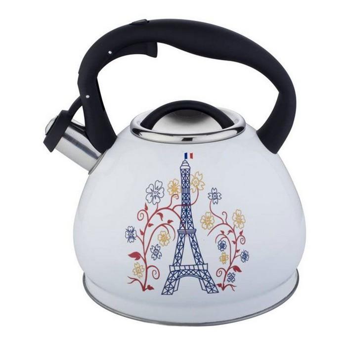 Чайник металлический 3л Premium, цвет МИКС