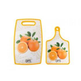 Набор разделочных досок, 2 шт., 23х37х1,2 см, 19х30х1,2 см, оранжевый