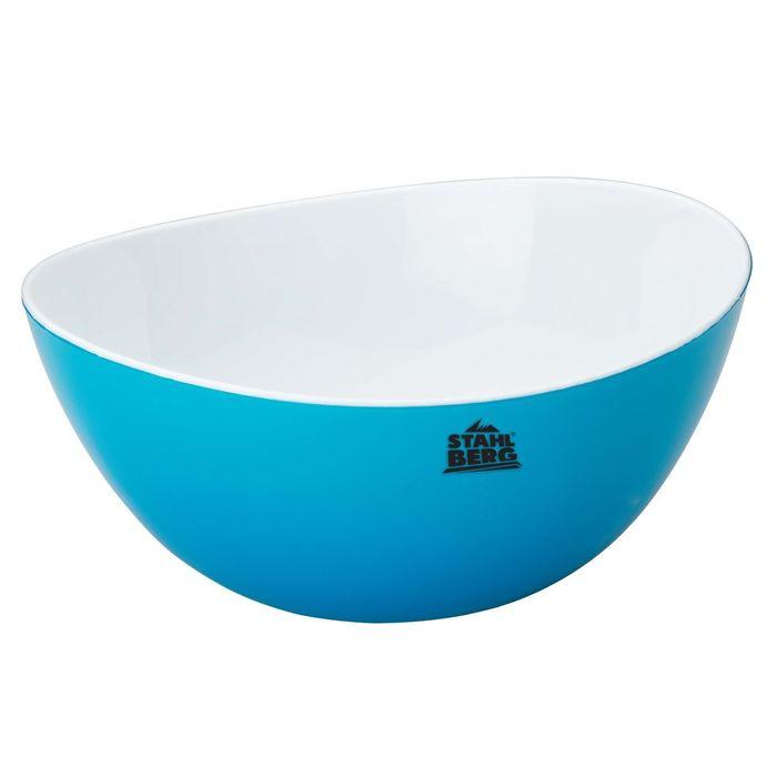 Салатница с двойными стенками 25.5х12,5 см, синяя