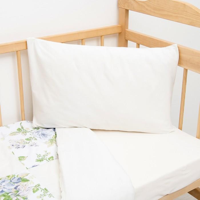 Детское постельное бельё (3 предмета), цвет белый, принт цветы 07.36