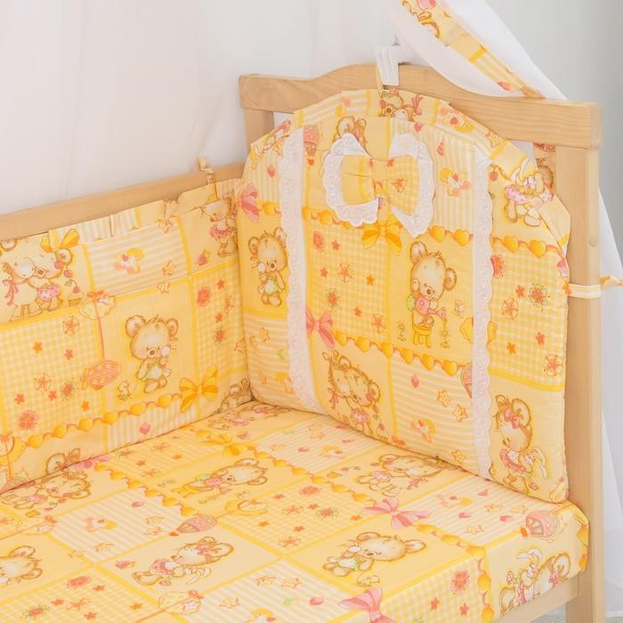 Комплект в кроватку (7 предметов), цвет бежевый микс 200