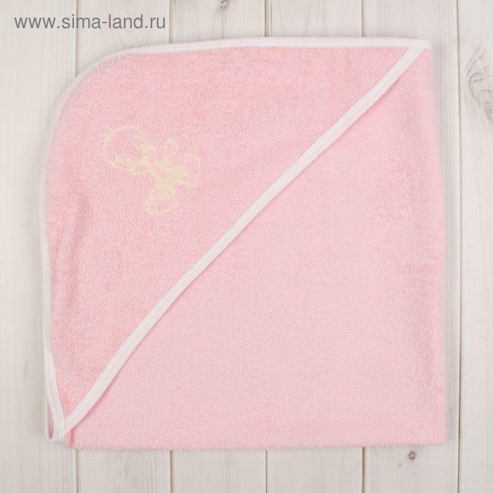 Уголок для купания с вышивкой, размер 80*80 см, цвет розовый 703