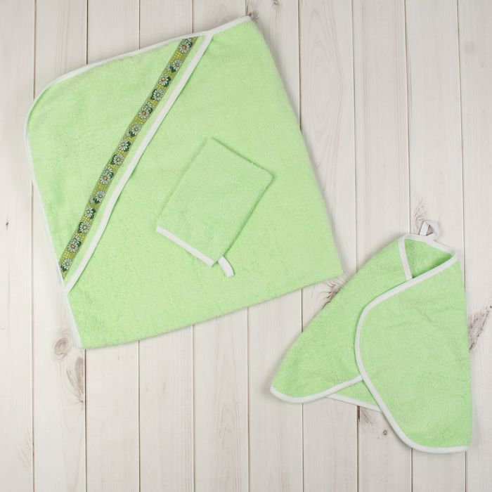 Комплект для купания (3 предмета), цвет зелёный 715
