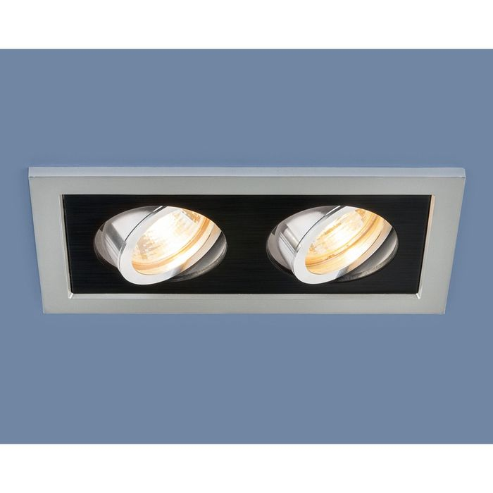 Светильник Elektrostandard MR16 GU5.3 1031/2 серебро/черный