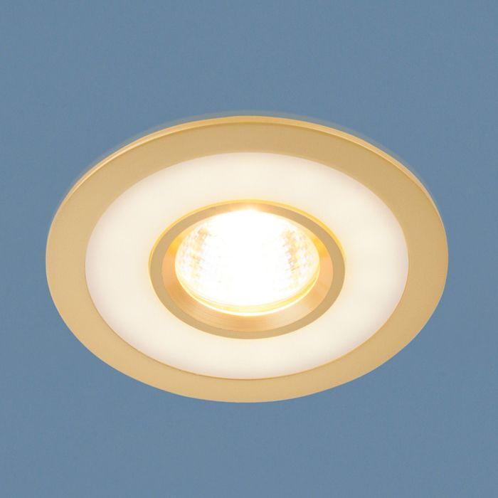 Светильник Elektrostandard MR16 GU5.3 1052 золото, с LED подсветкой