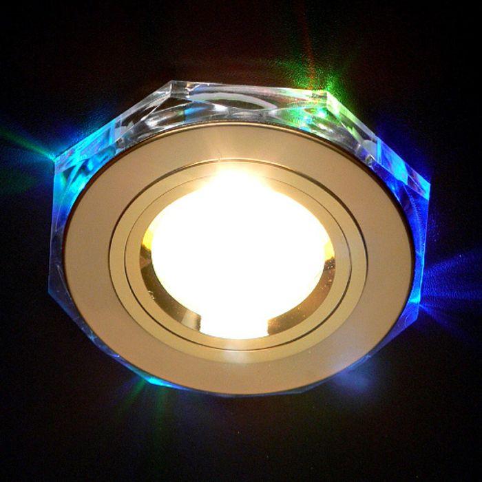 Светильник Elektrostandard MR16 GU5.3 2020/2 золото/мульти, LED подсветка