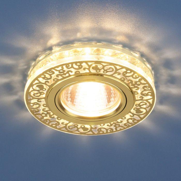 Светильник Elektrostandard MR16 GU5.3 6034 золото, LED подсветка