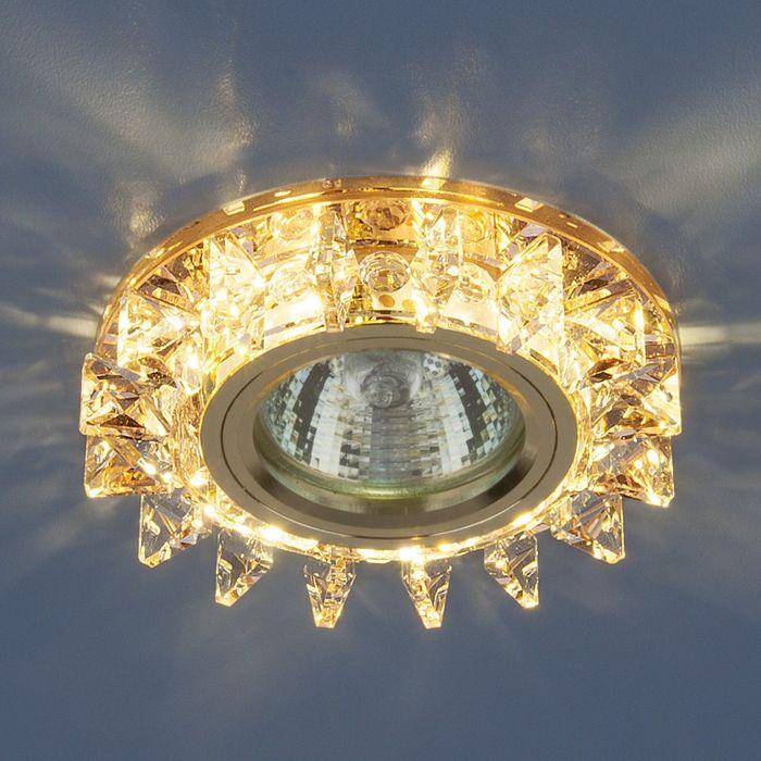 Светильник Elektrostandard MR16 GU5.3 6037 зеркальный/золото, LED подсветка