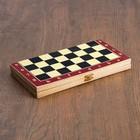 """Настольная игра 3 в 1 """"Карнал"""": нарды, шахматы, шашки (пластик), доска из дерева 28х28"""