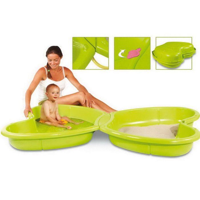 Песочница-бассейн бабочка 167×111×18 см
