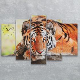 Часы настенные модульные «Тигр», 80 × 140 см