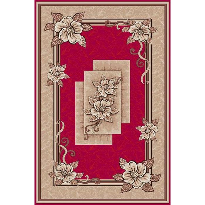 Ковер Фортуна, размер 200х300 см, цвет красный, войлок 195 г/м2