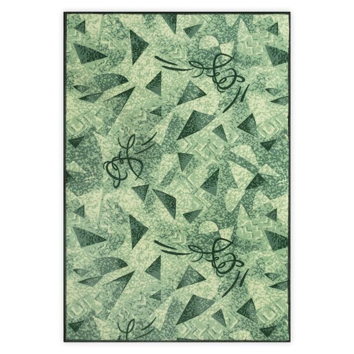 Палас Карамель, размер 100х200 см, цвет зелёный, войлок 195 г/м2