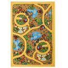 Ковер принт Карусель, размер 100х150 см, цвет бежевый, полиамид