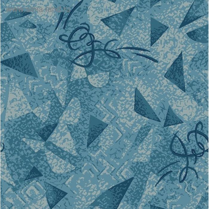 Палас Карамель, размер 250х550 см, цвет синий, войлок 195 г/м2