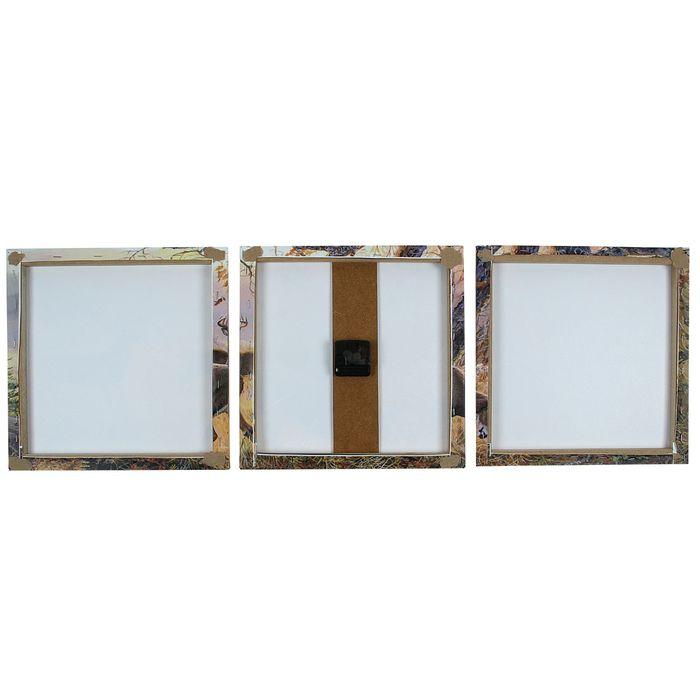 Часы настенные модульные «Олени», 35 × 110 см