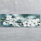Часы настенные модульные «Весеннее цветение», 35 × 110 см