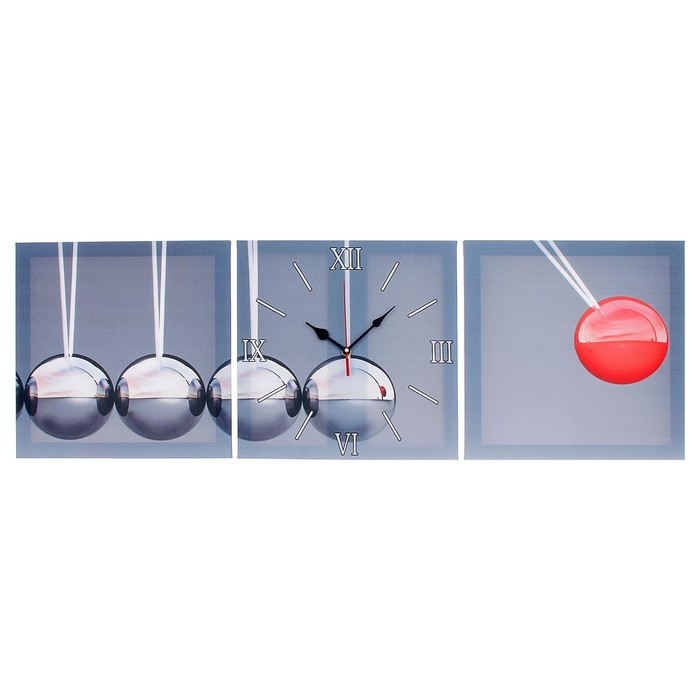 Часы настенные модульные «Шарики», 35 × 110 см