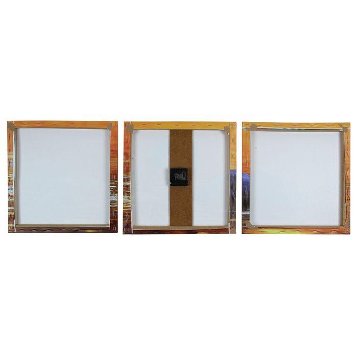 Часы настенные модульные «Лебедь на закате», 35 × 110 см