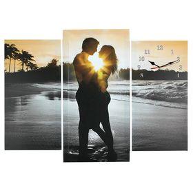 Часы настенные модульные «Влюблённая пара», 60 × 80 см