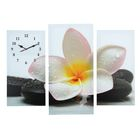 Часы настенные модульные «Цветок на камнях», 60 × 80 см