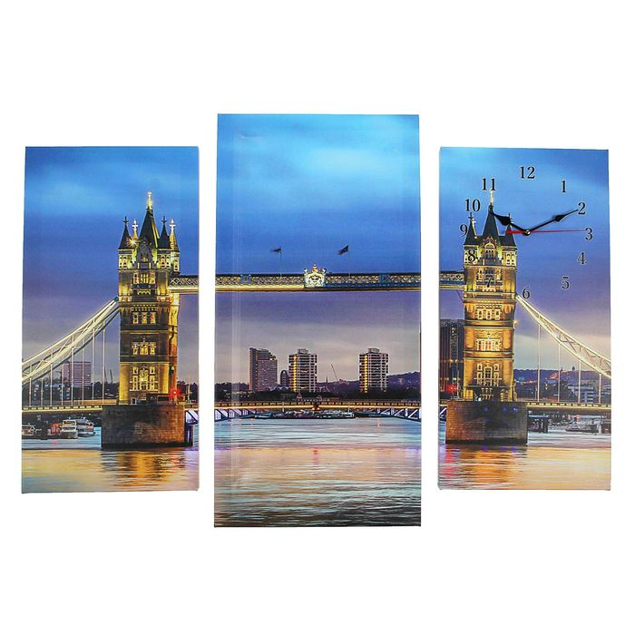 Часы настенные модульные «Тауэрский мост», 60 × 80 см