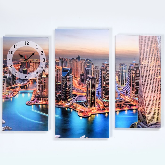 Часы настенные модульные «Дубай», 60 × 80 см