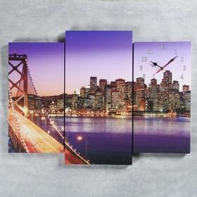 Часы настенные модульные «Мост Золотые Ворота», 60 × 80 см