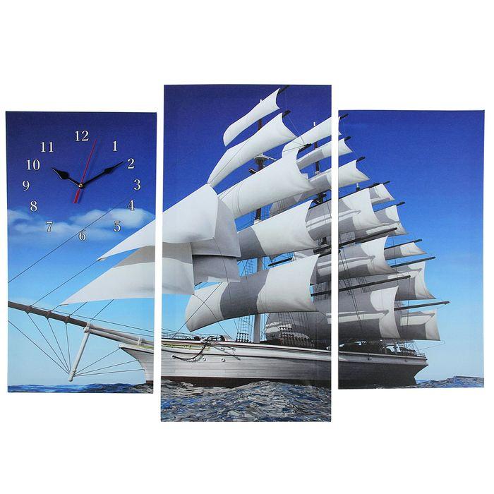 Часы настенные модульные «Фрегат», 60 × 80 см