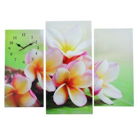 Часы настенные модульные «Сиреневые цветы», 60 × 80 см