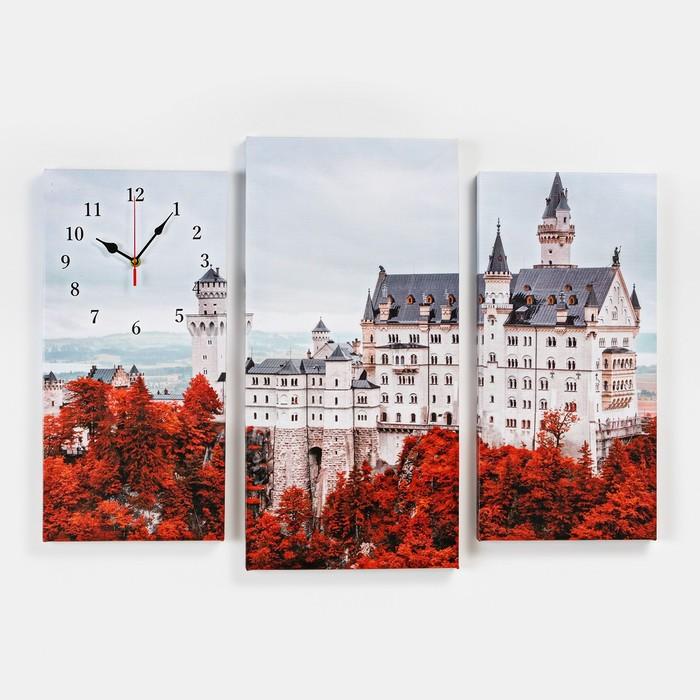 Часы настенные модульные «Белый замок», 60 × 80 см