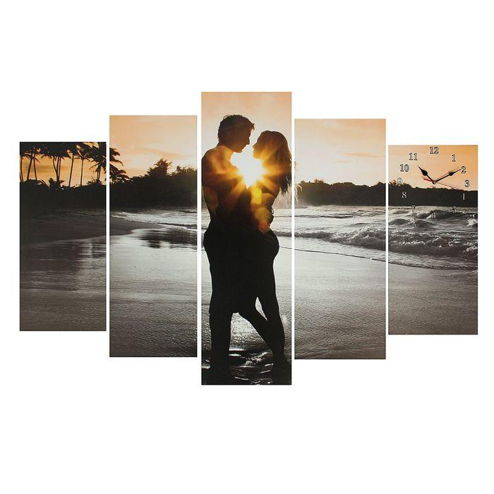 Часы настенные модульные «Влюблённая пара», 80 × 140 см - фото 896202