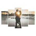 Часы настенные модульные «Влюблённая пара», 80 × 140 см - фото 896205