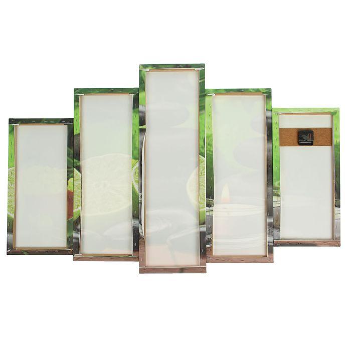 Часы настенные модульные «Лайм, свечи и камень», 80 × 140 см