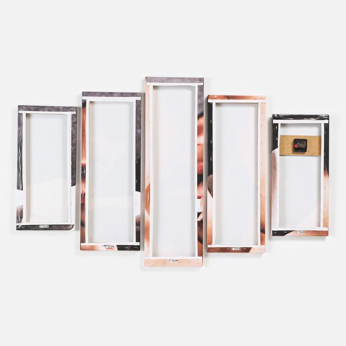 Часы настенные модульные «Загадочная девушка», 80 × 140 см