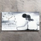 """Часы настенные, серия: Люди, на холсте """"Влюбленная пара"""", 40х76  см, микс"""