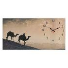 """Часы настенные, серия: Животный мир, на холсте """"Караван"""", 40х76  см, микс"""