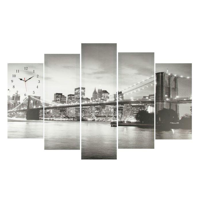 Часы настенные модульные «Мост», 80 × 140 см