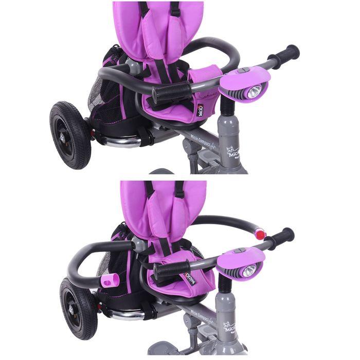 """Велосипед трёхколёсный Micio Compact Air 2017, надувные колёса 10""""/8"""", цвет лиловый"""