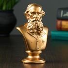 Бюст Толстой / золото, 5.5× 8× 14 см