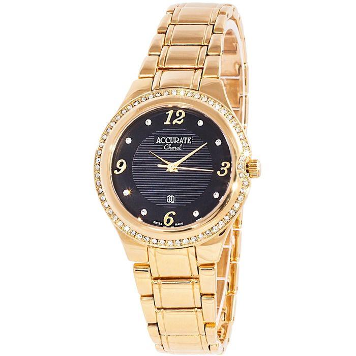 Часы наручные женские ACCURATE ALQ370S black