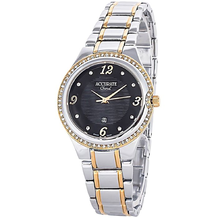 Часы наручные женские ACCURATE ALQ370ST black