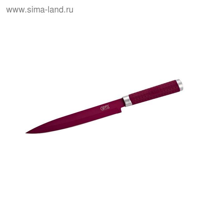 Нож ZING 20,3 см, с лазерной эмблемой, бордовый