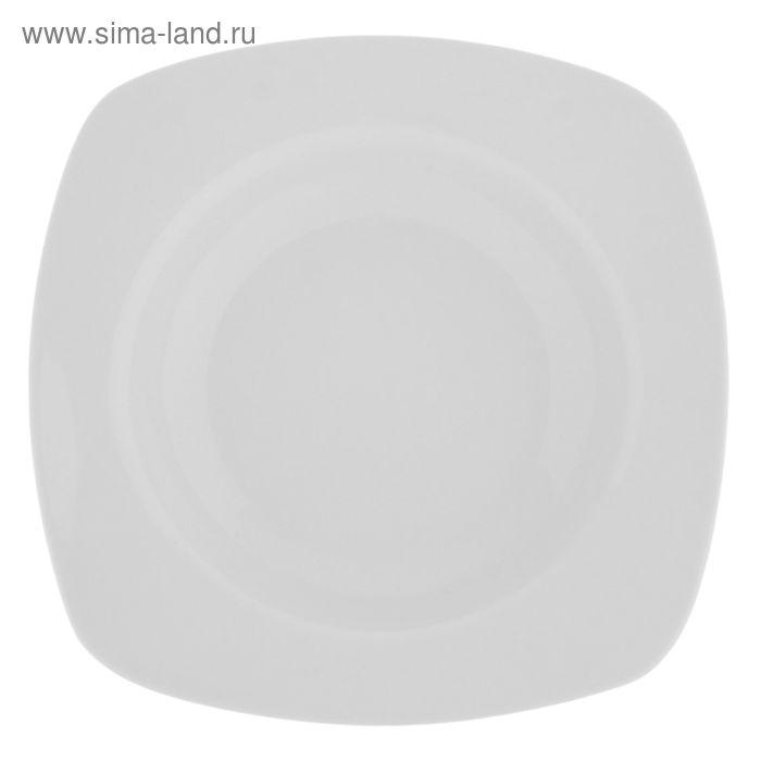 Тарелка глубокая квадратная 250 мл, 20 см