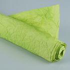 """Бумага для декорирования """"Де люкс"""", жатая, зелёная, 0,7 х 5 м"""