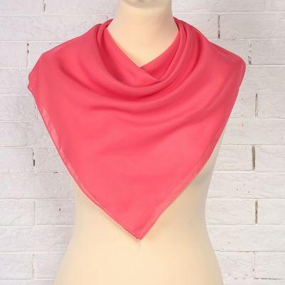 Платок текстильный женский 54S_134 цвет тёмно-розовый, р-р 72х72 см