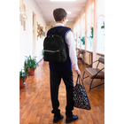 Рюкзак молодёжный, отдел на молнии, наружный карман, цвет чёрный/серый - фото 362059