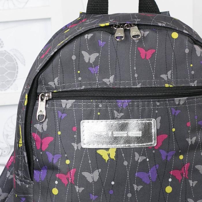 Рюкзак молодёжный, отдел на молнии, наружный карман, цвет серый - фото 509628104