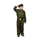 """Карнавальный костюм """"Спецназ"""", берет, комбинезон, пояс, 5-7 лет, рост 122-134 см"""