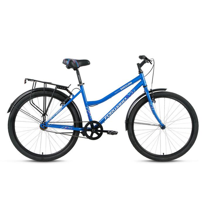 "Велосипед 26"" Forward Barcelona 1.0, 2017, цвет синий, размер 17"""